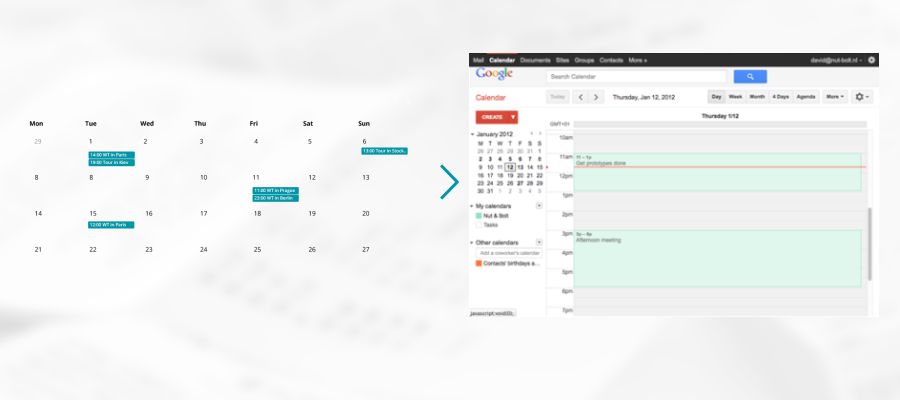 Migrating from/to Google Calendar
